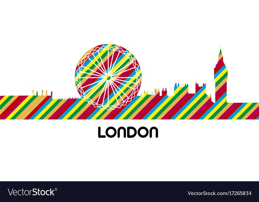 Skyline of london vector image
