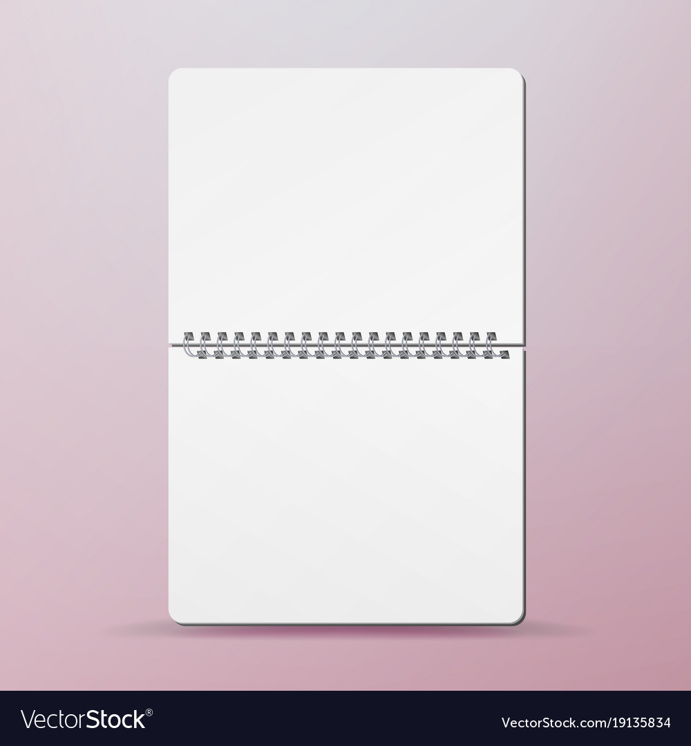 Spiral empty notepad blank mockup template for