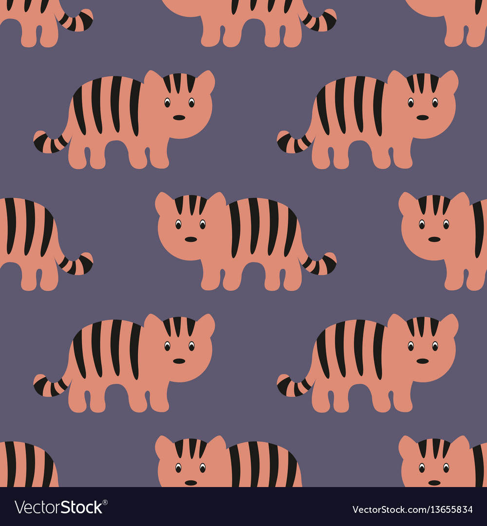 Stylized tiger cartoon style background