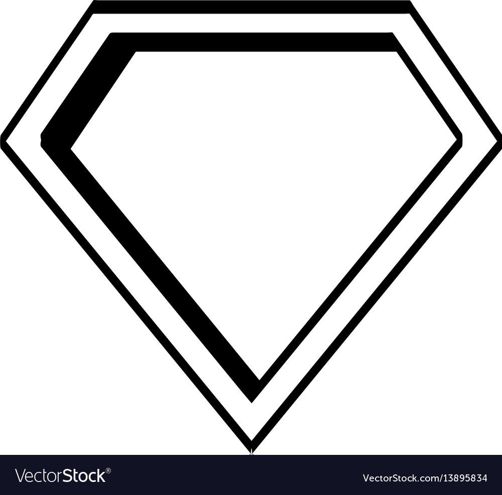 Super hero shield pop art Royalty Free Vector Image
