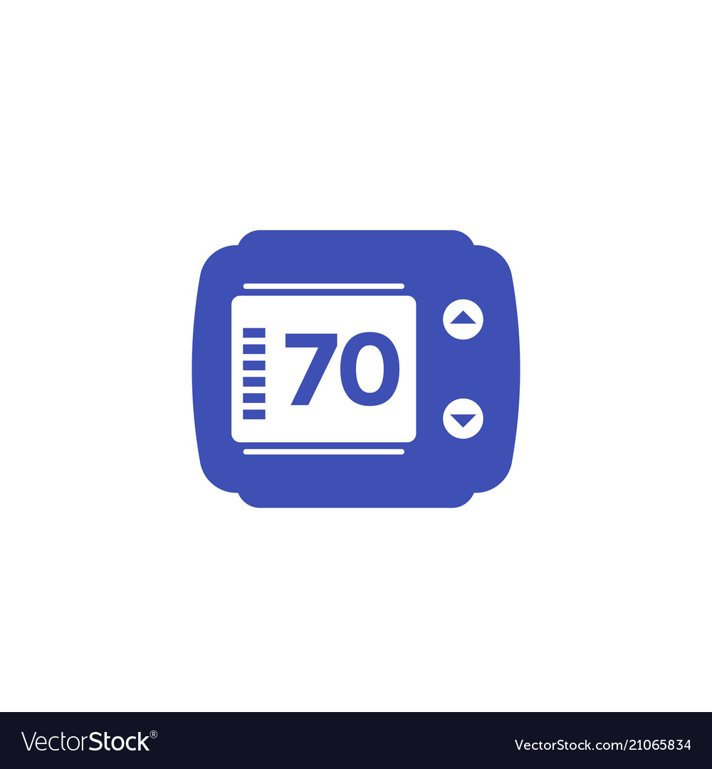 thermostat isolated icon royalty free vector image