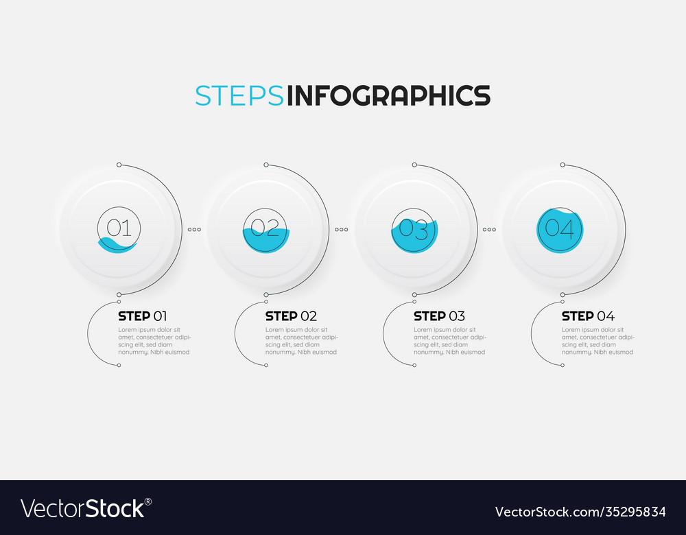 Trendy step step infographics design