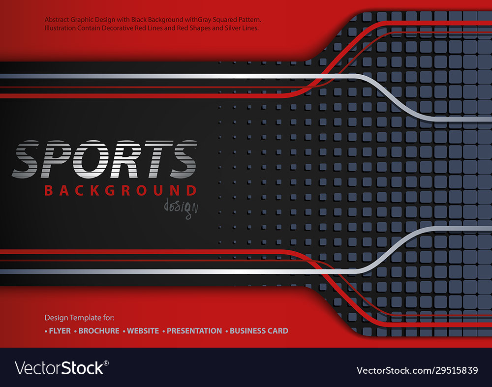 Abstract red-black background in sport design