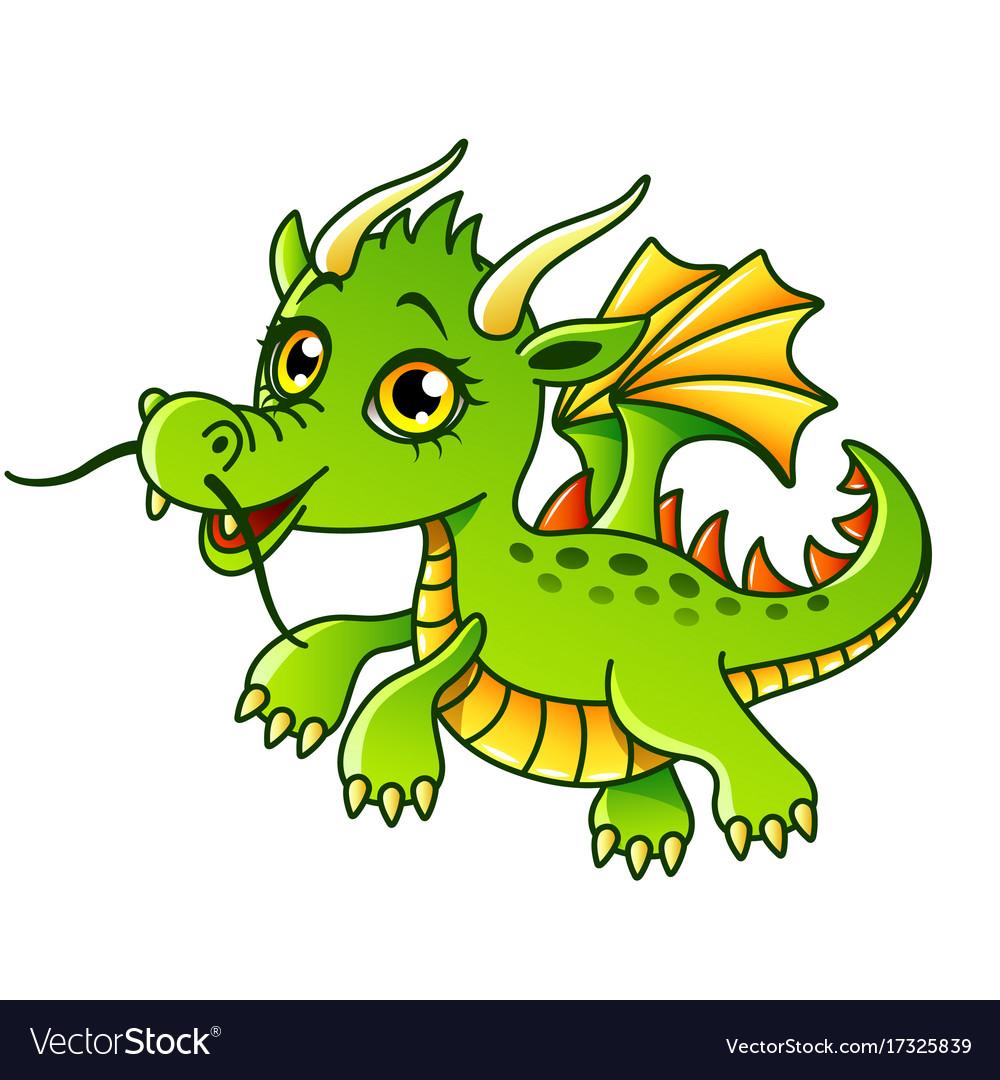 Cartoon dragon isolated
