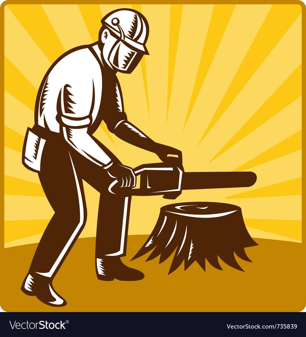 Chainsaw lumberjack