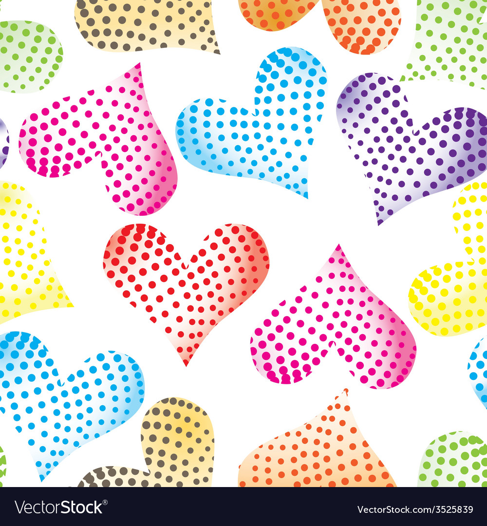 Floral pastel pink pattern heart background seamle