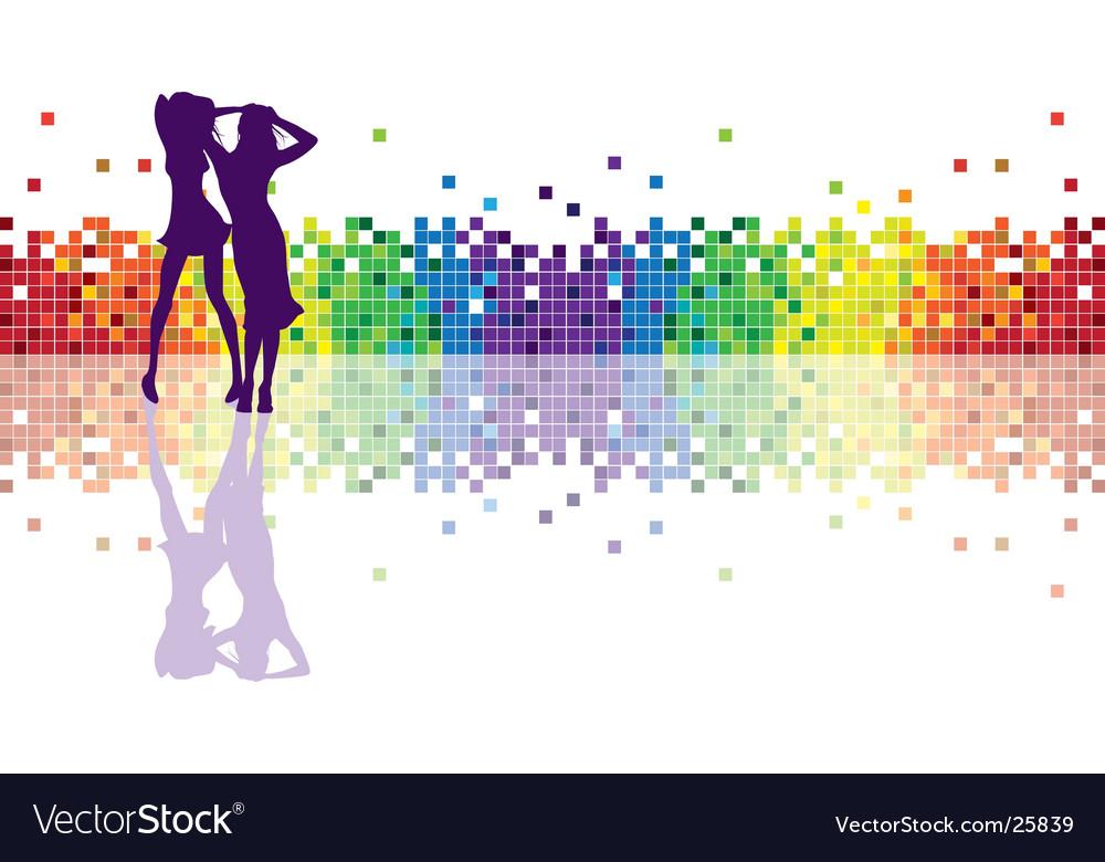 Geometric rainbow vector image