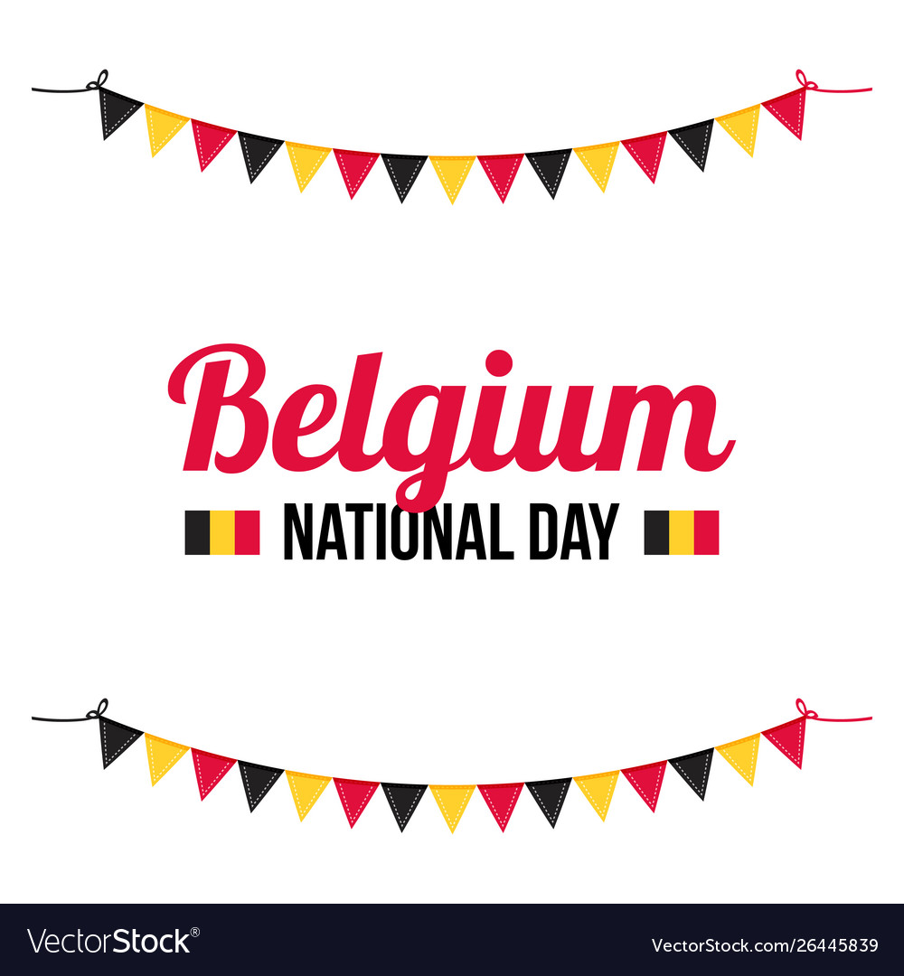 Greeting card for belguim national day