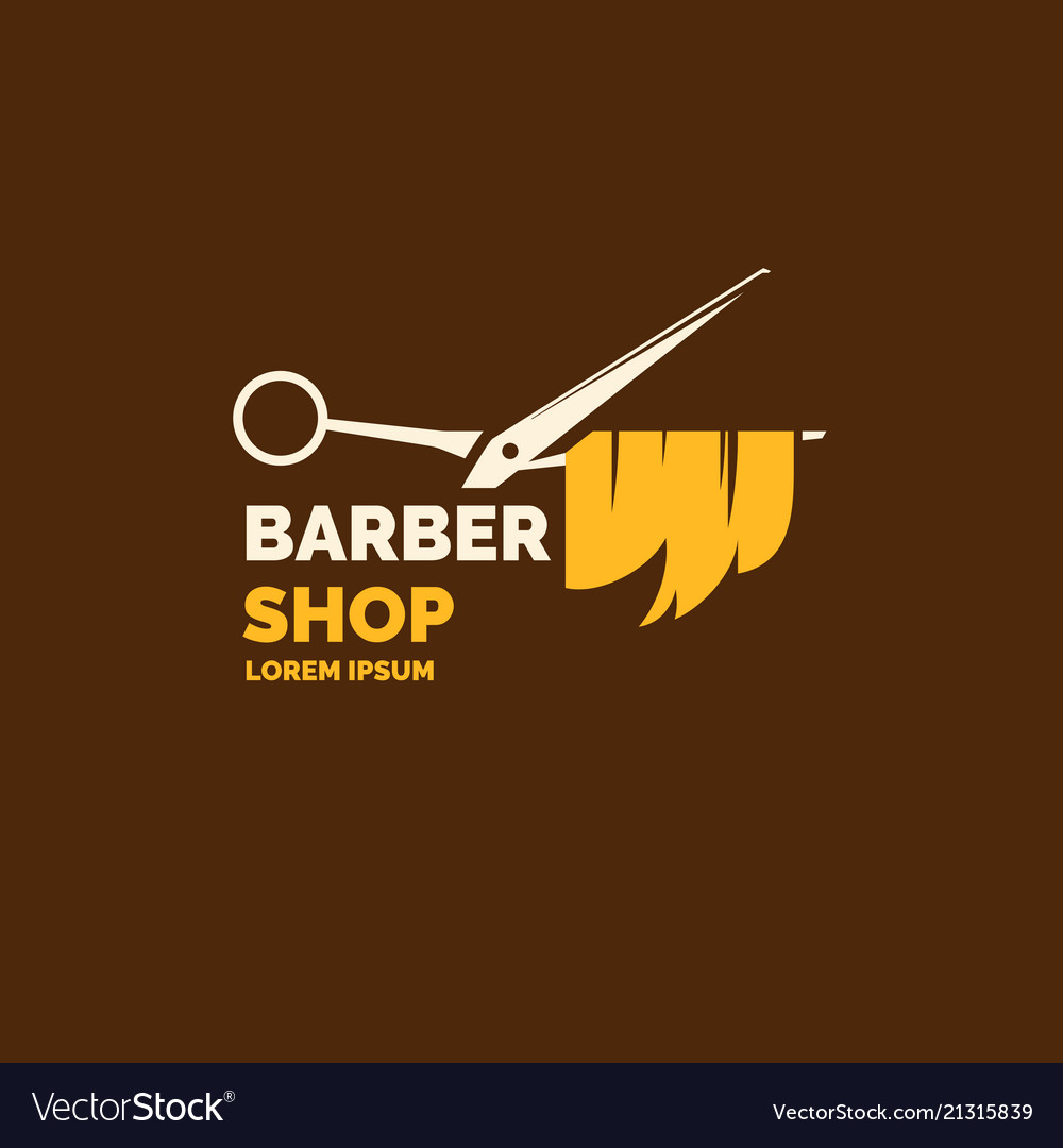 Logo and emblem for barber shop elements to