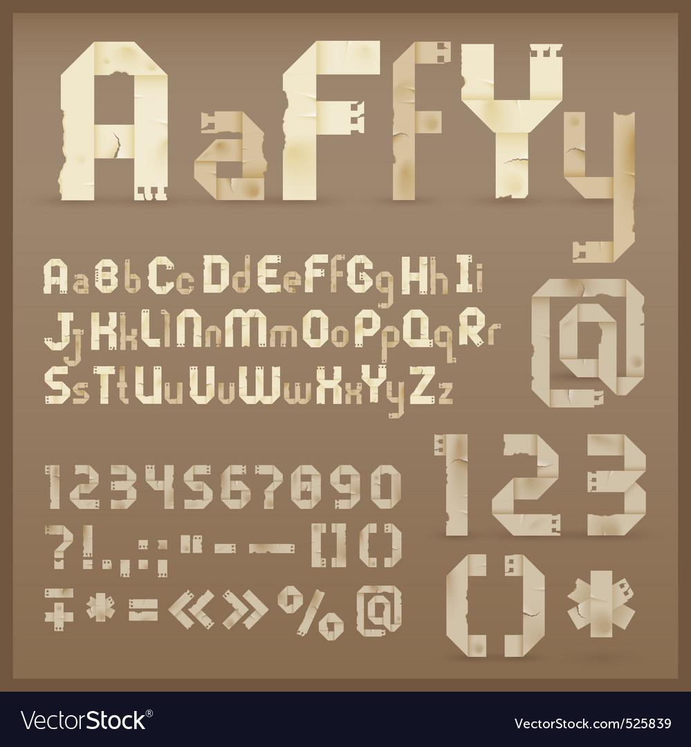 Vintage letter font