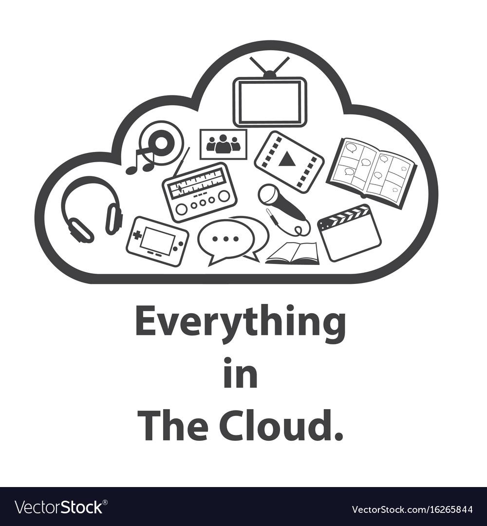 Big data icon cloud computing vector image