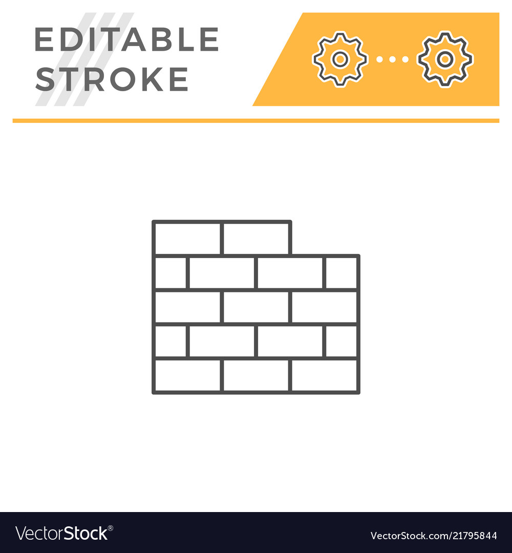 Brick wall line icon