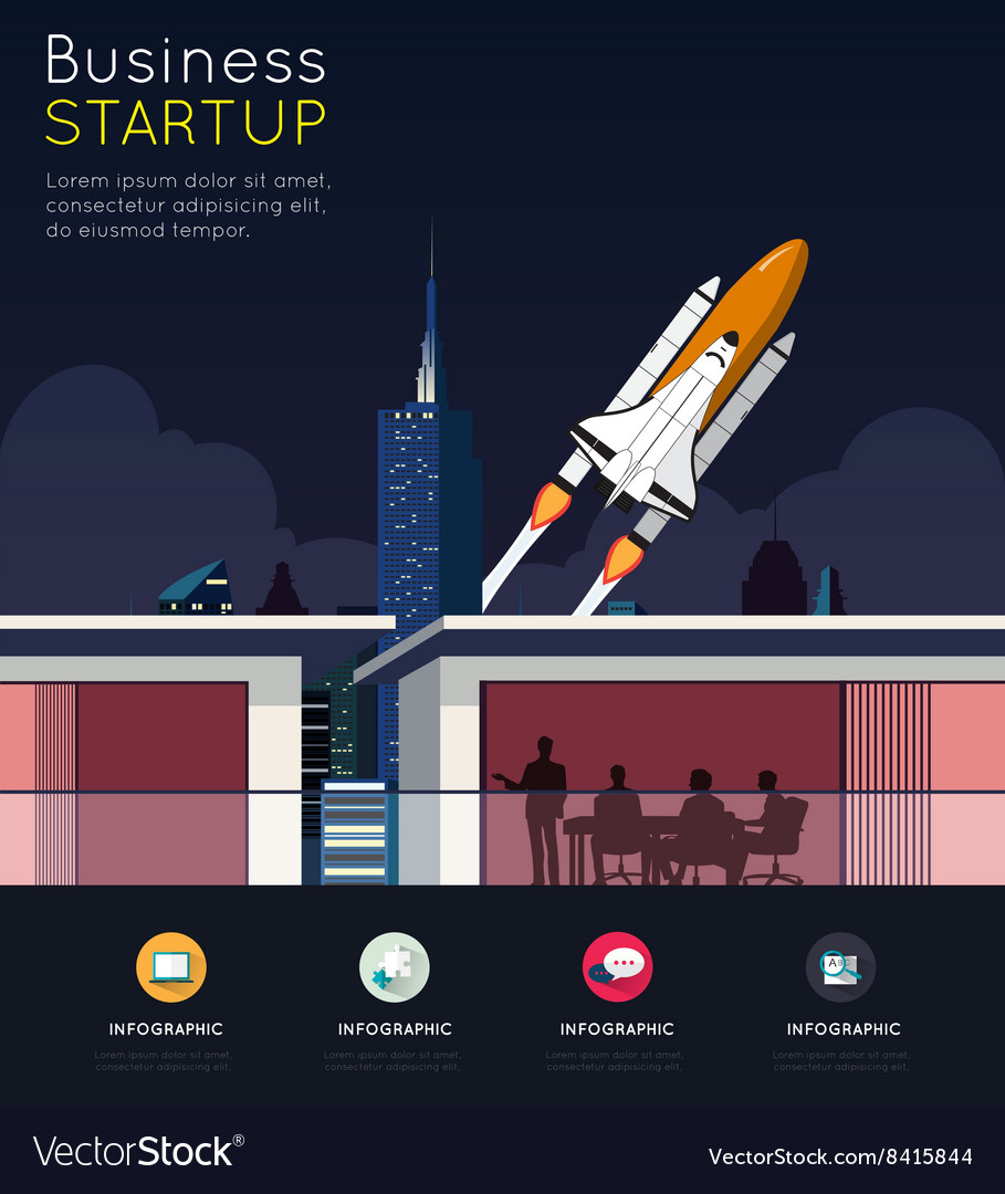 Business meeting for start up concept vector image
