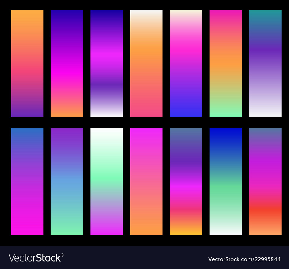 Colorful gradients screen gradient covers