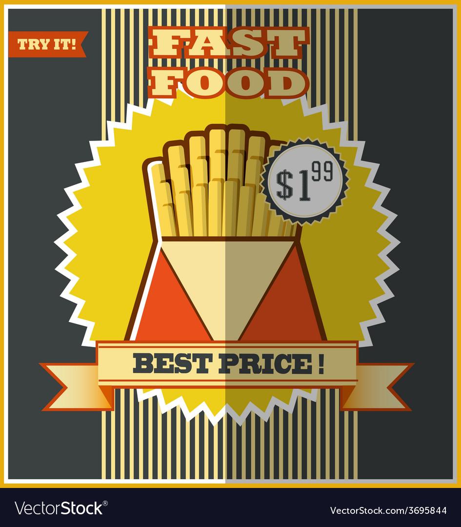 Fast food menu Hot fries