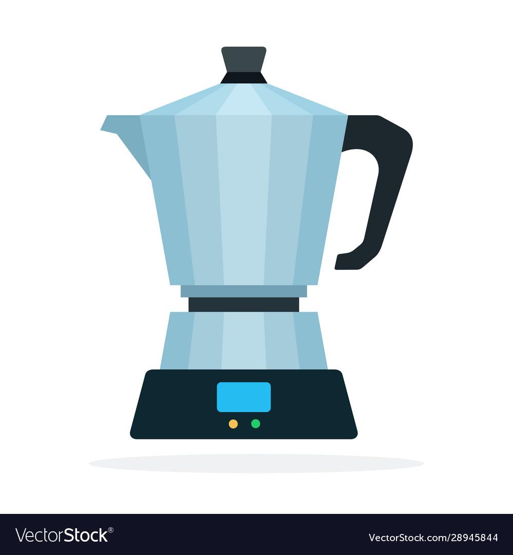 Geyser coffee flat isolated
