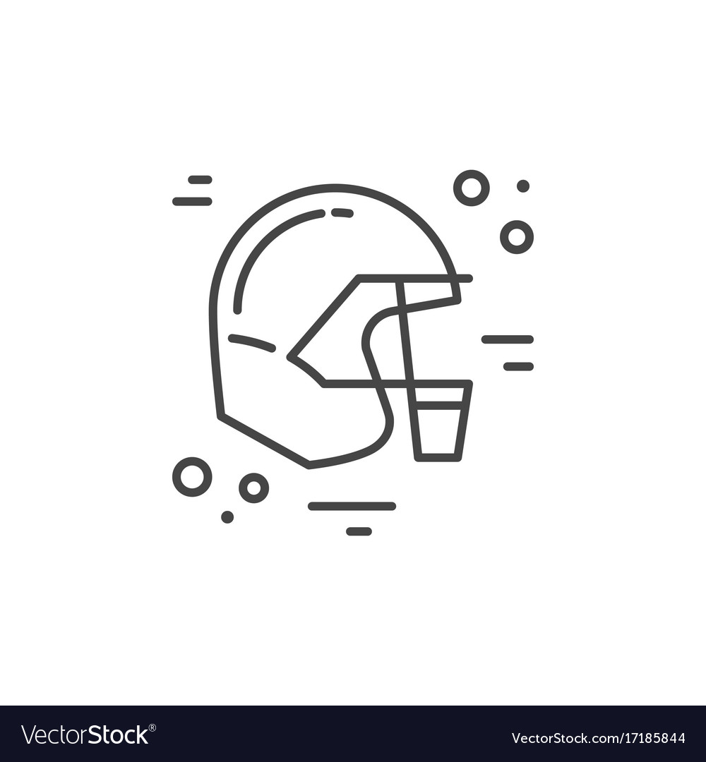 Helmet city line icon