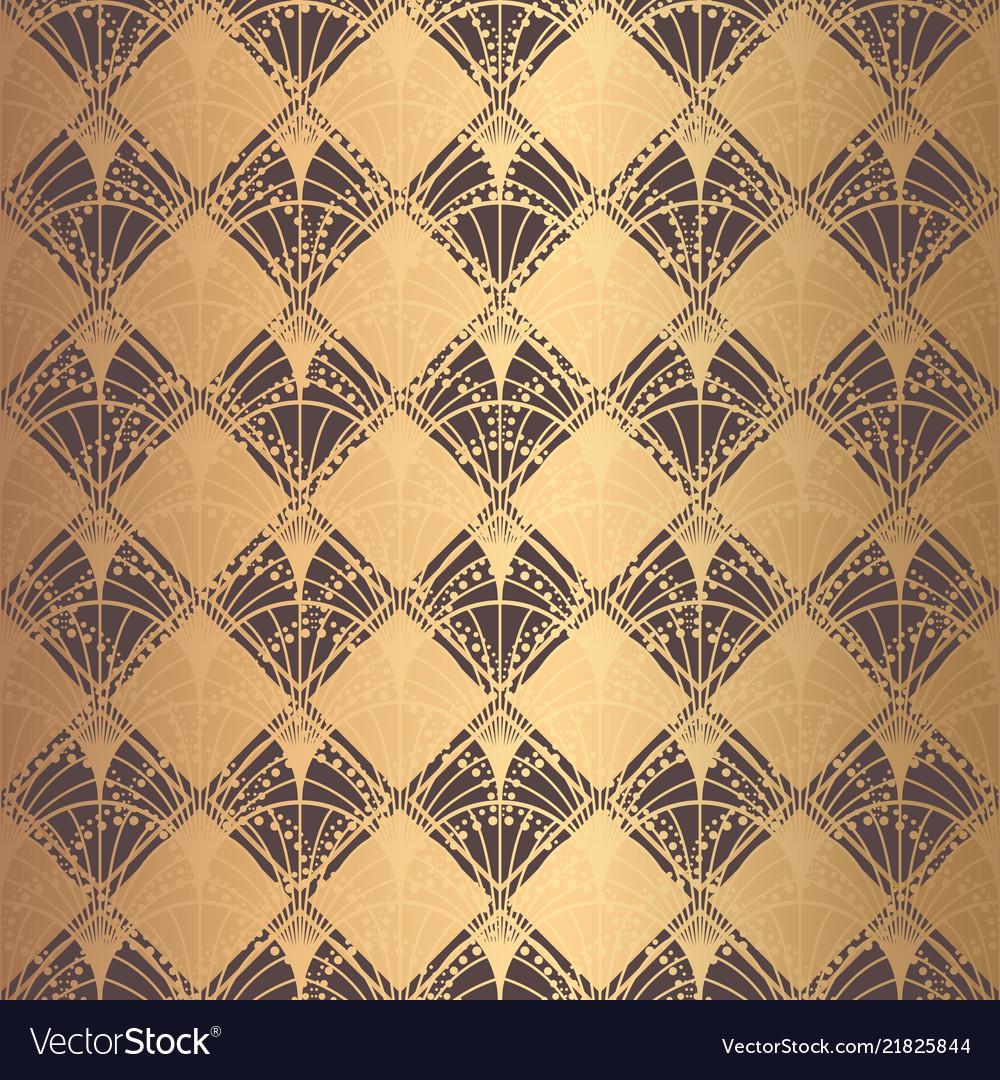Irregular art deco pattern golden background