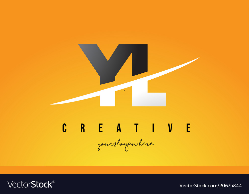 Yl y l letter modern logo design with yellow vector image
