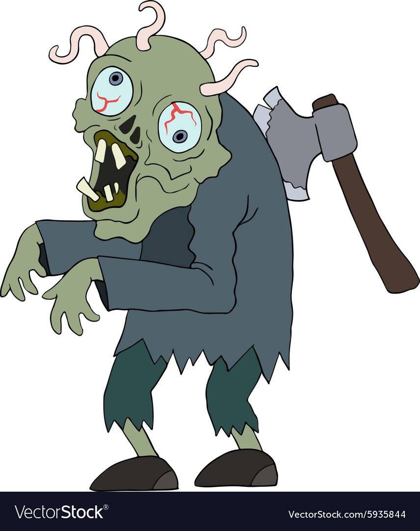 Zombie man cartoon character