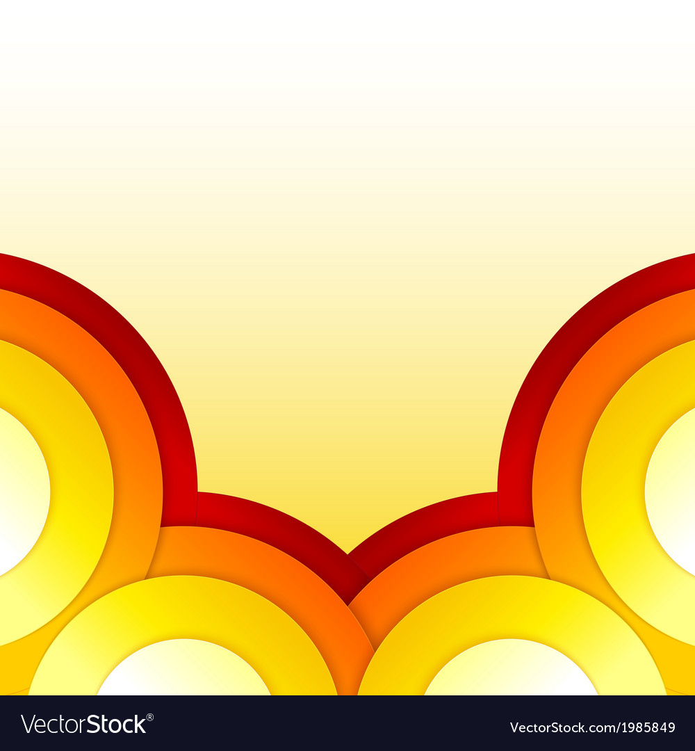 Abstract Red And Orange Circles Background