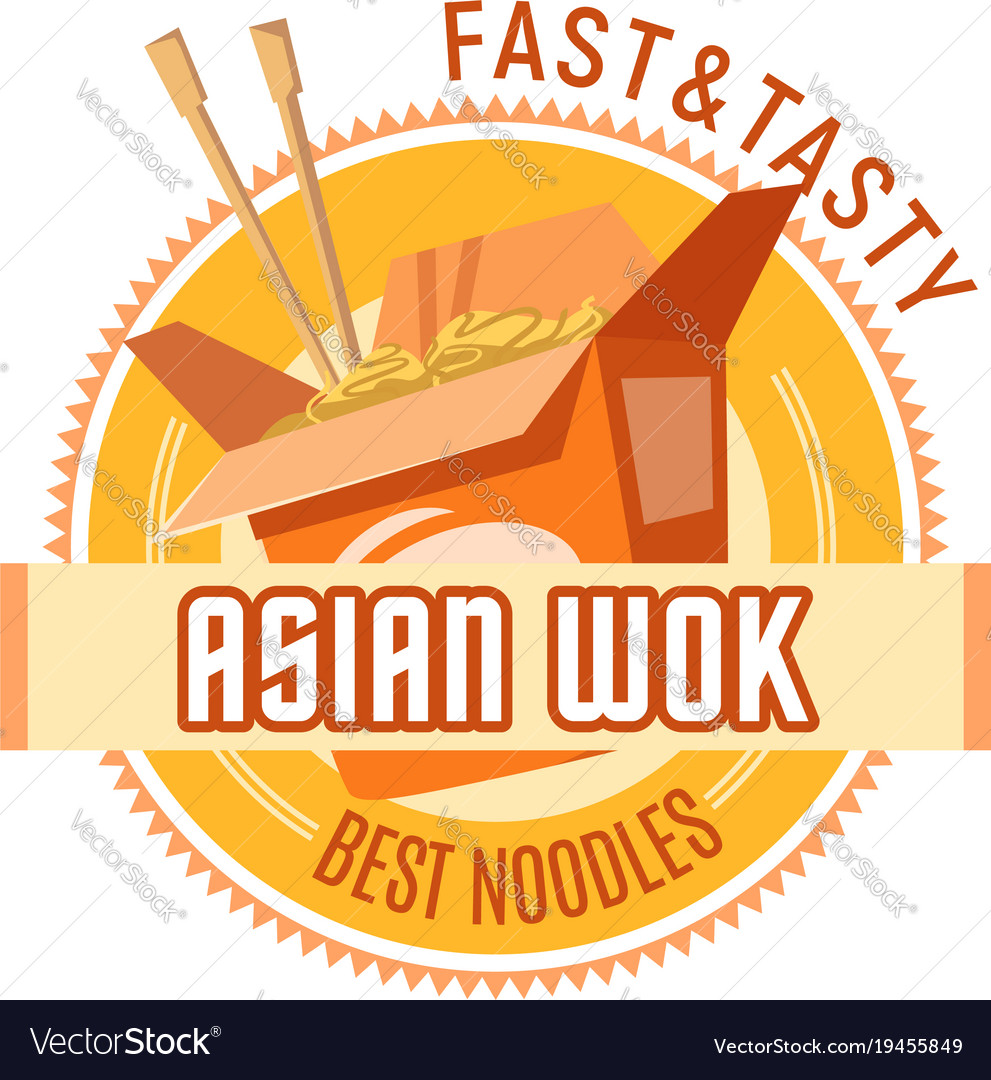 Asian noodles or chinese wok cuisine icon