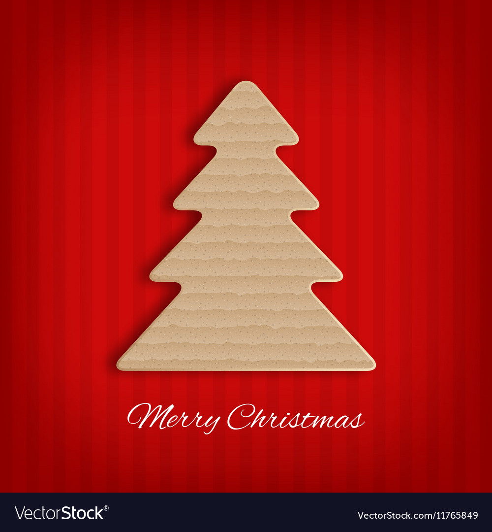 Cardboard Christmas Tree Royalty Free Vector Image
