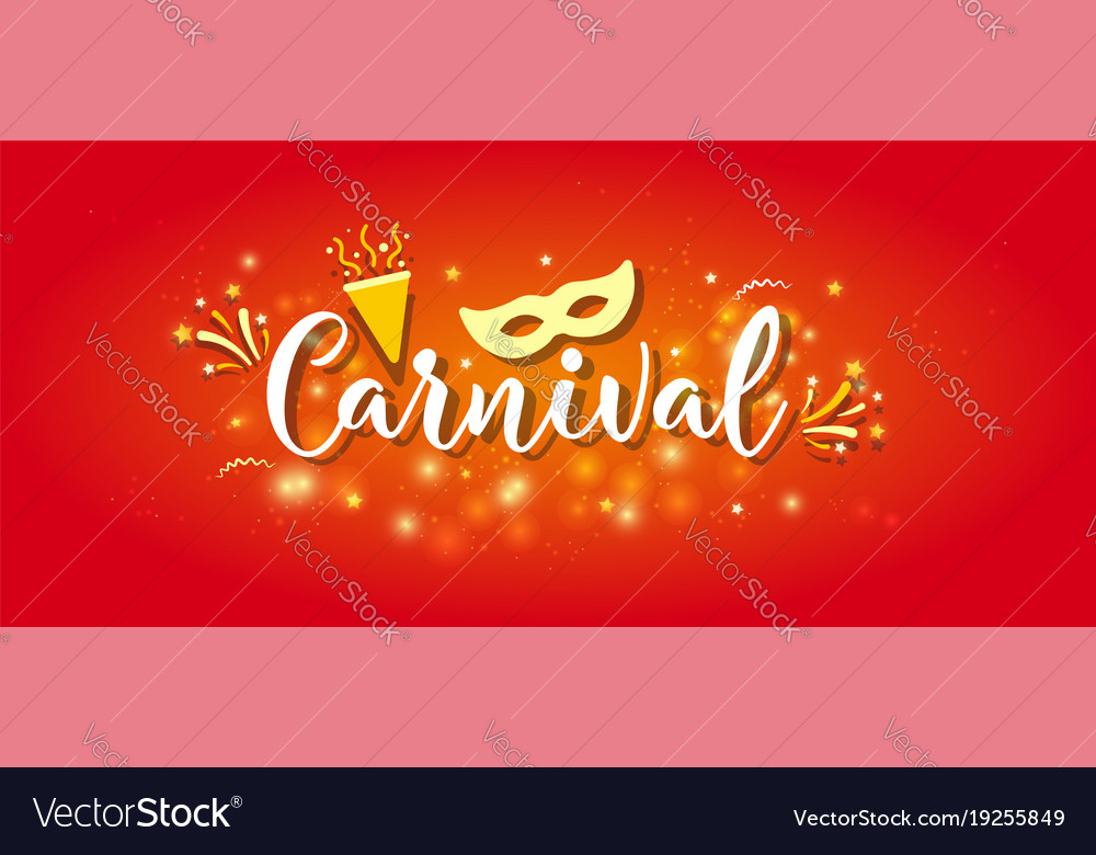 Carnival colorful poster