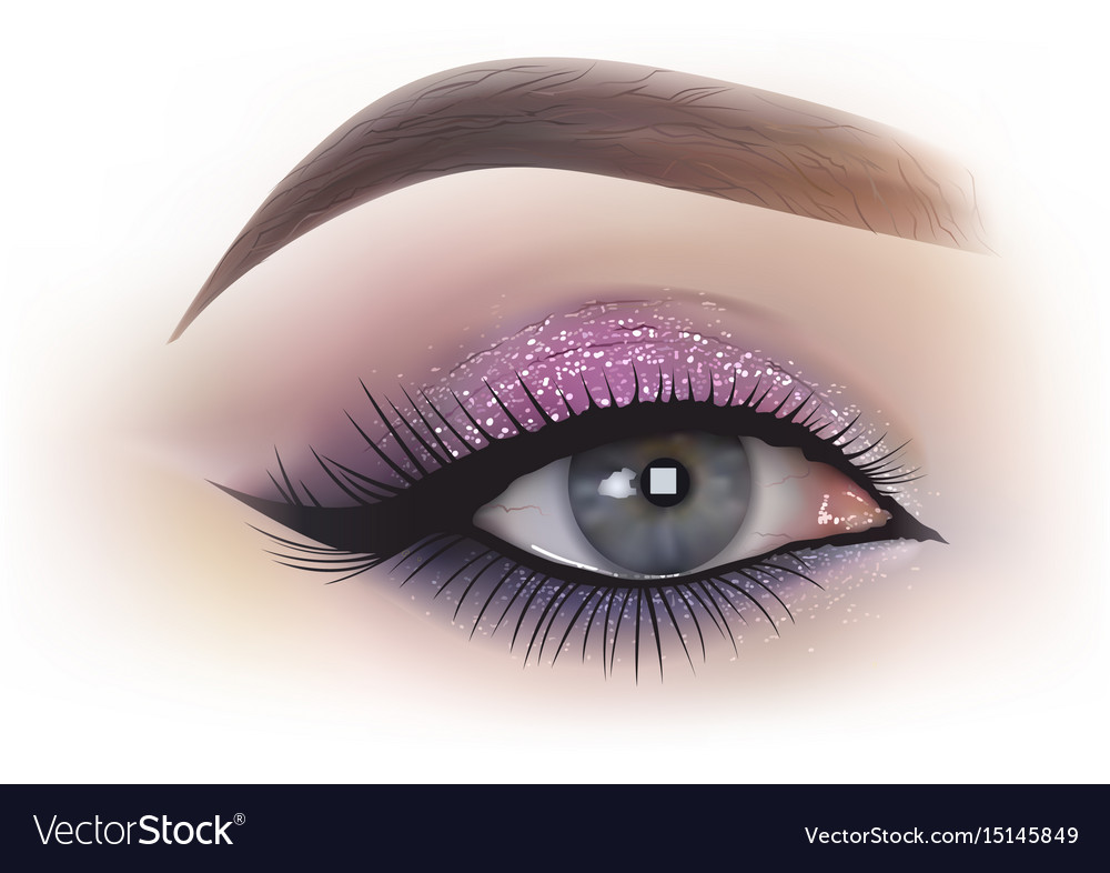 Fashion woman eye makeup
