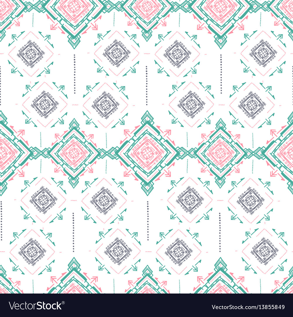 Handdrawn ethnic ornamental seamless vector image
