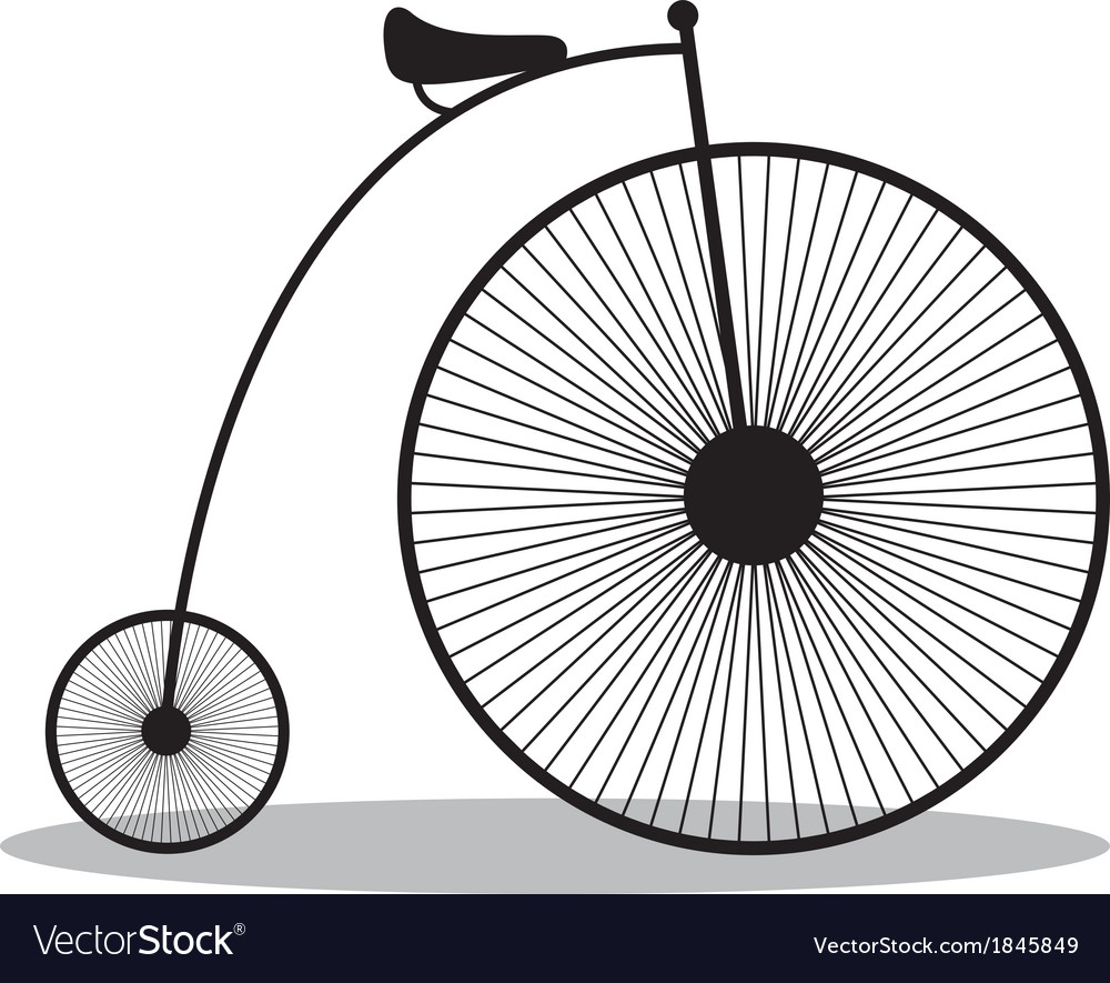 High wheeler vector image