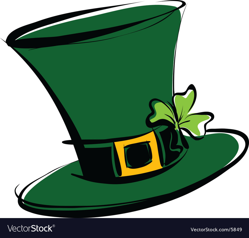 Leprechaun hat vector image