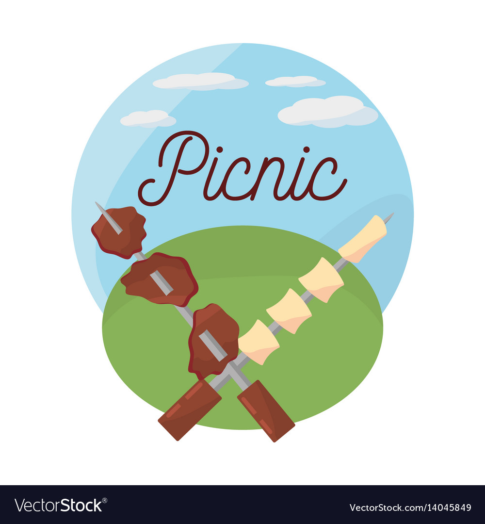 Picnic grilled meal delicious
