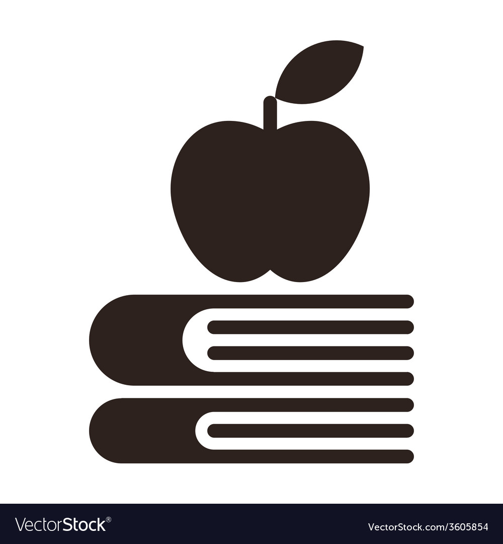 Apple on a books - Education symbol