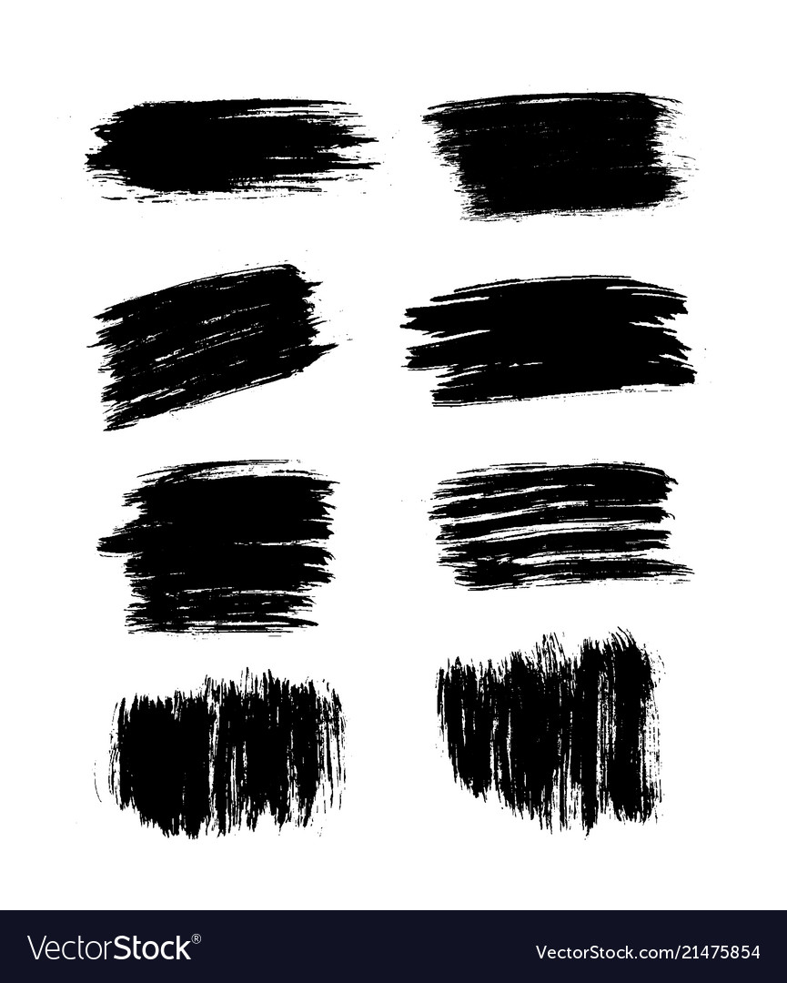 Brush strokes set hand drawn scribble abstract