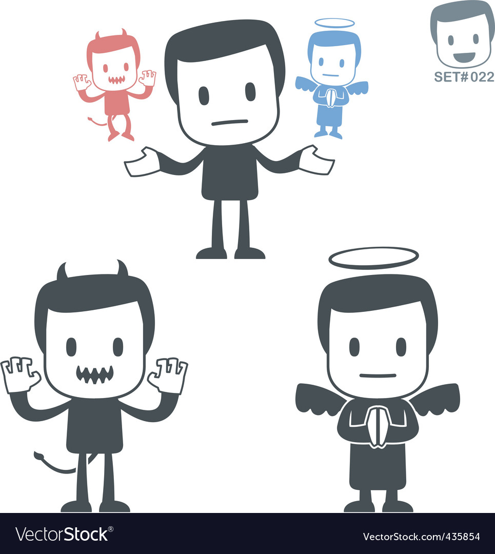 Good and evil icon vector image
