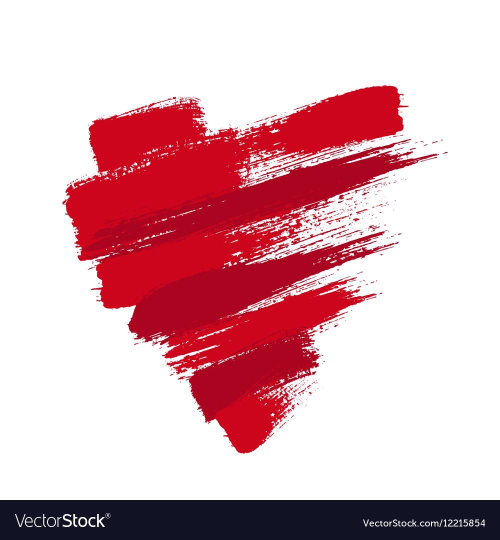 Grunge Heart from Brush Strokes