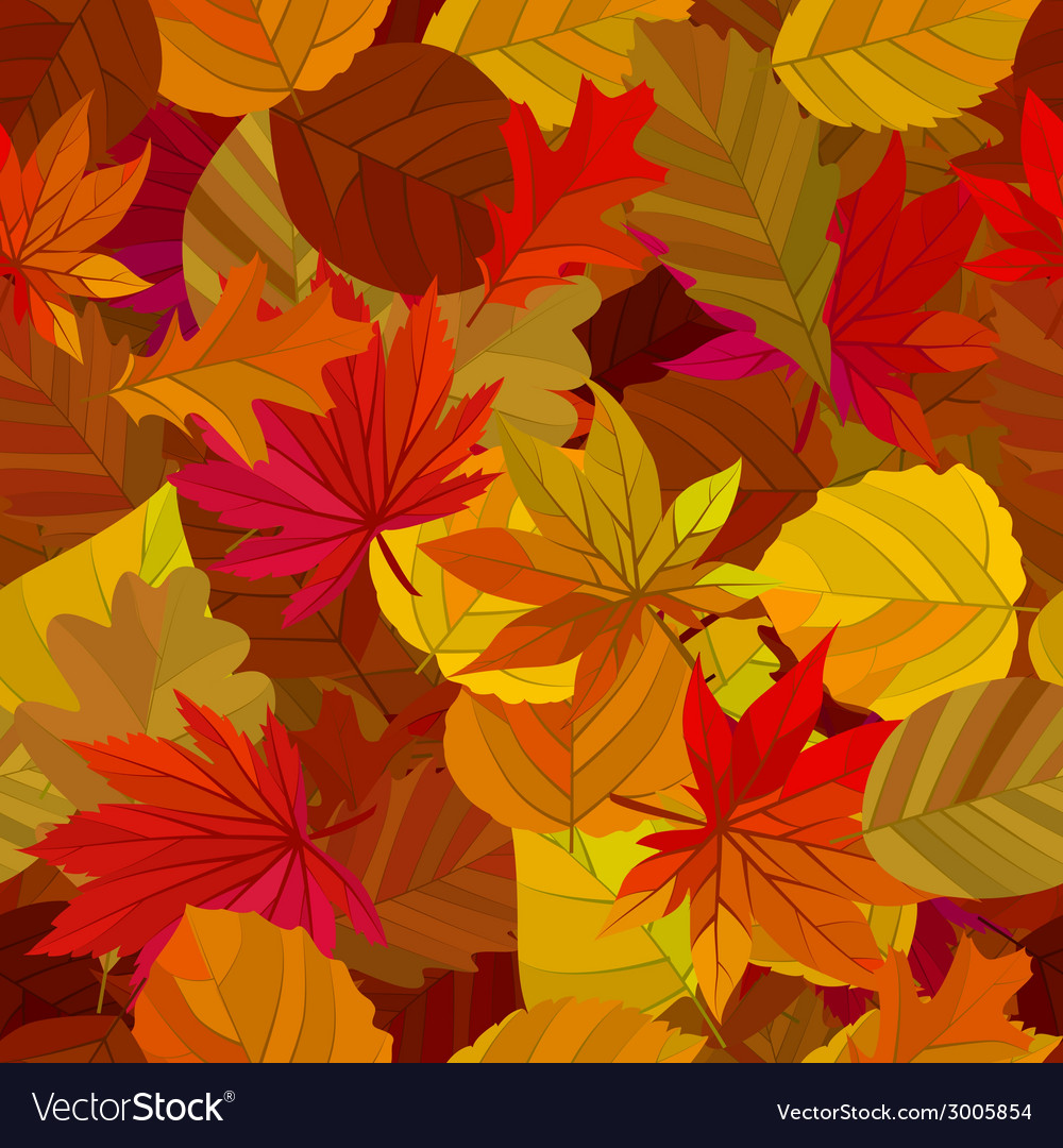Seamless pattern with maple leaves