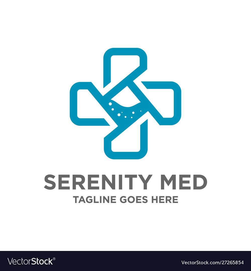 Symbol logo plus medical design