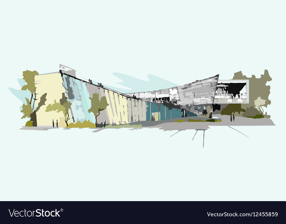 Architectural sketch of building
