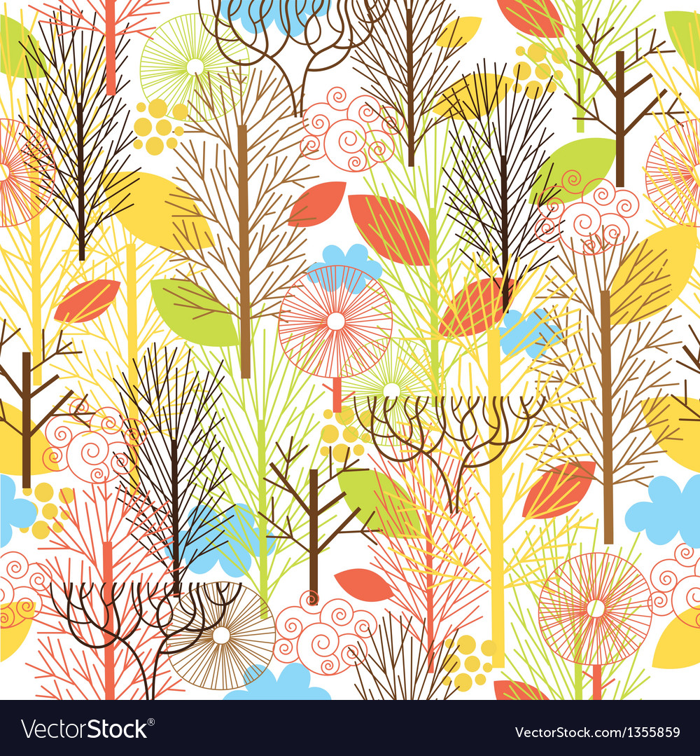 Autumn forest seamles pattern