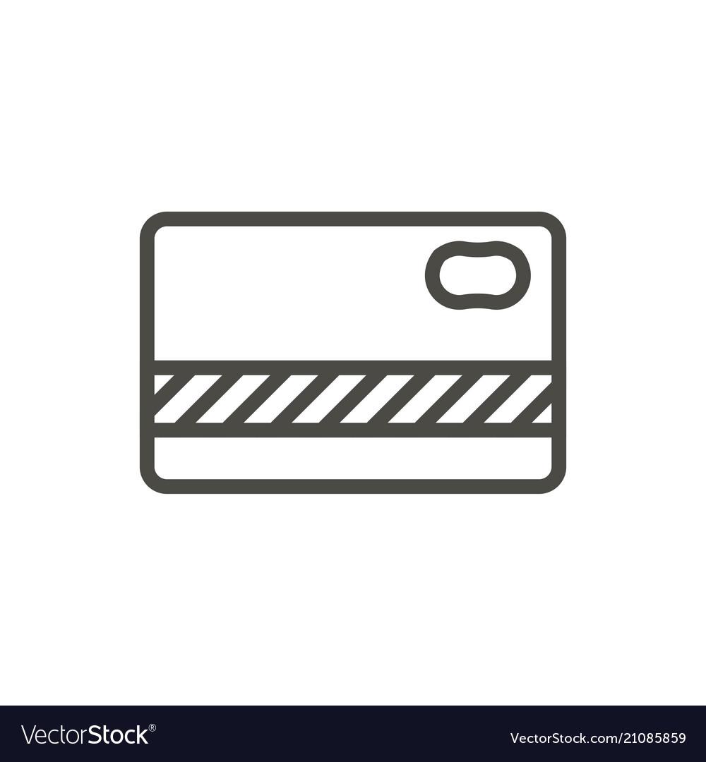 Bank card icon line creedit card symbol