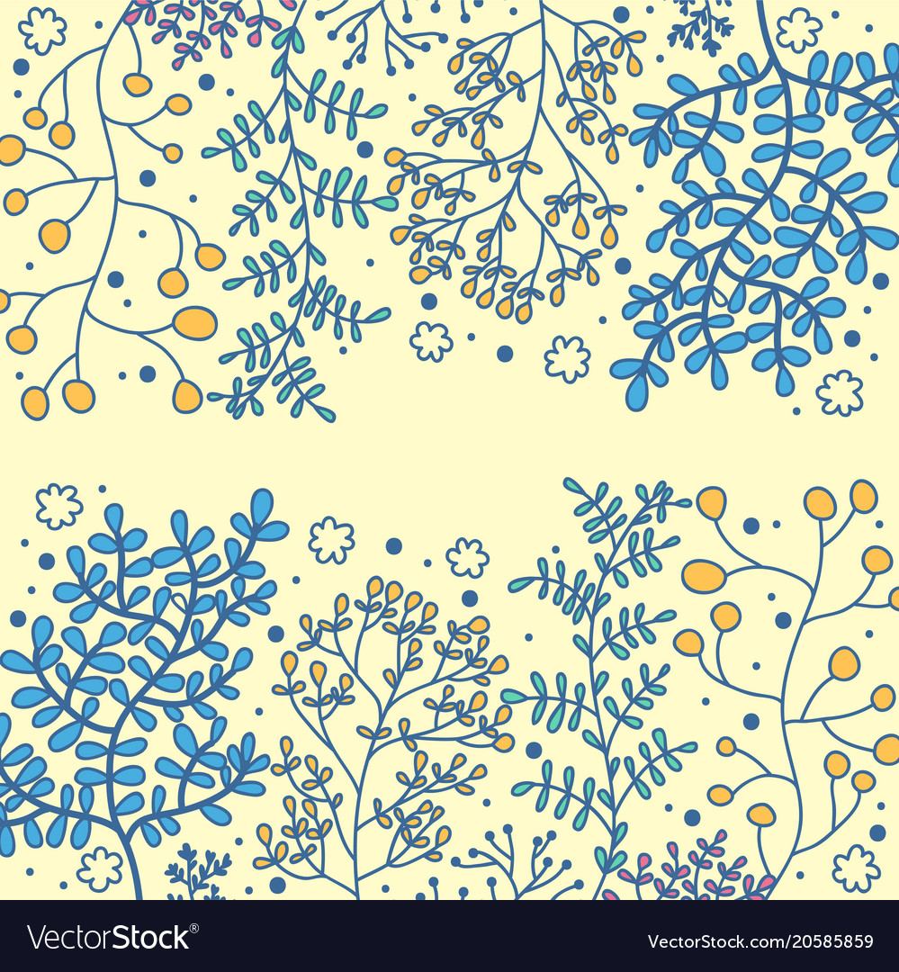 Botanicals pattern set of herbs background