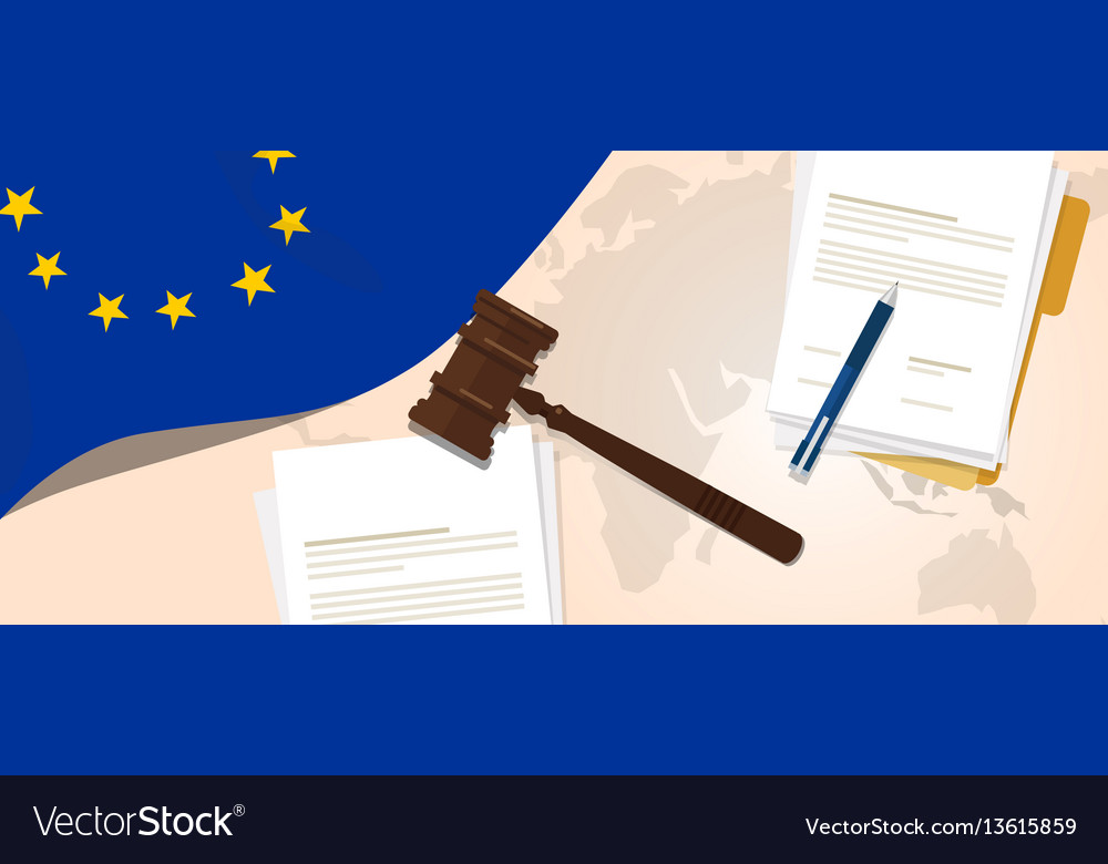 Europe union eu law constitution legal judgment vector image