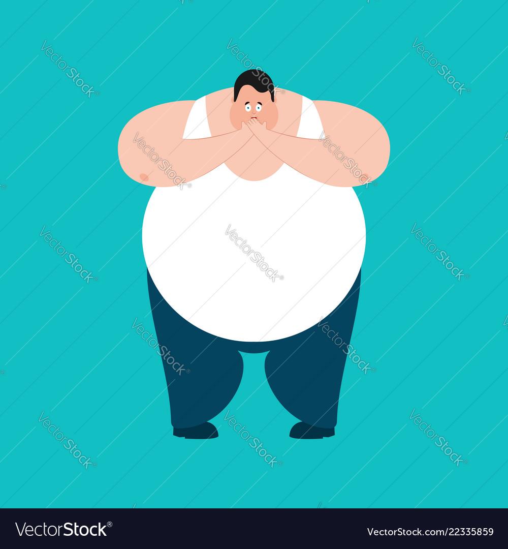 Fat omg scared stout guy oh my god emoji