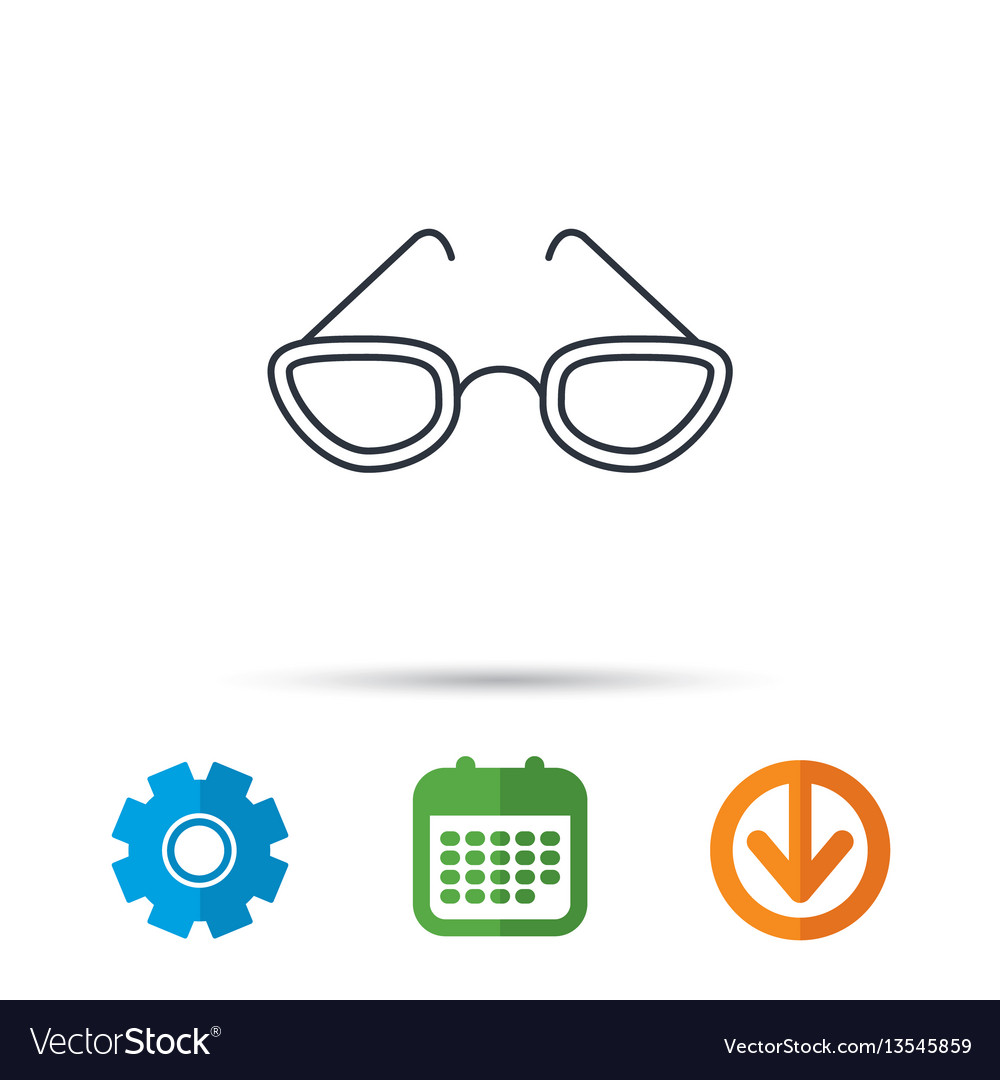 Glasses icon reading accessory sign