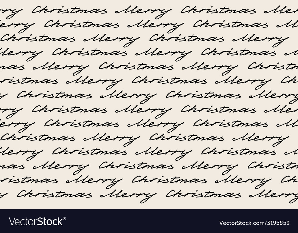 Merry christmas words Royalty Free Vector Image