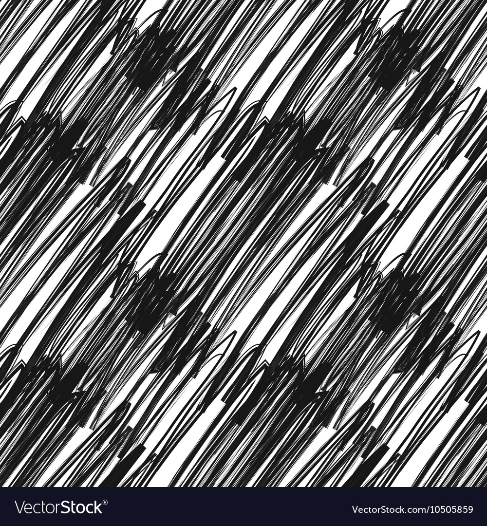 Messy hatching on white abstract seamless pattern vector image