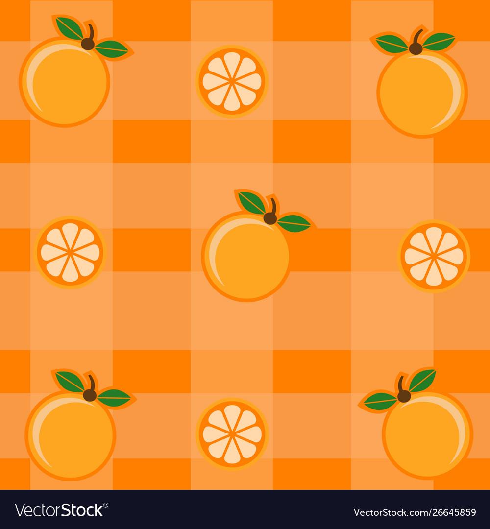 Pattern with orange and orange leaves