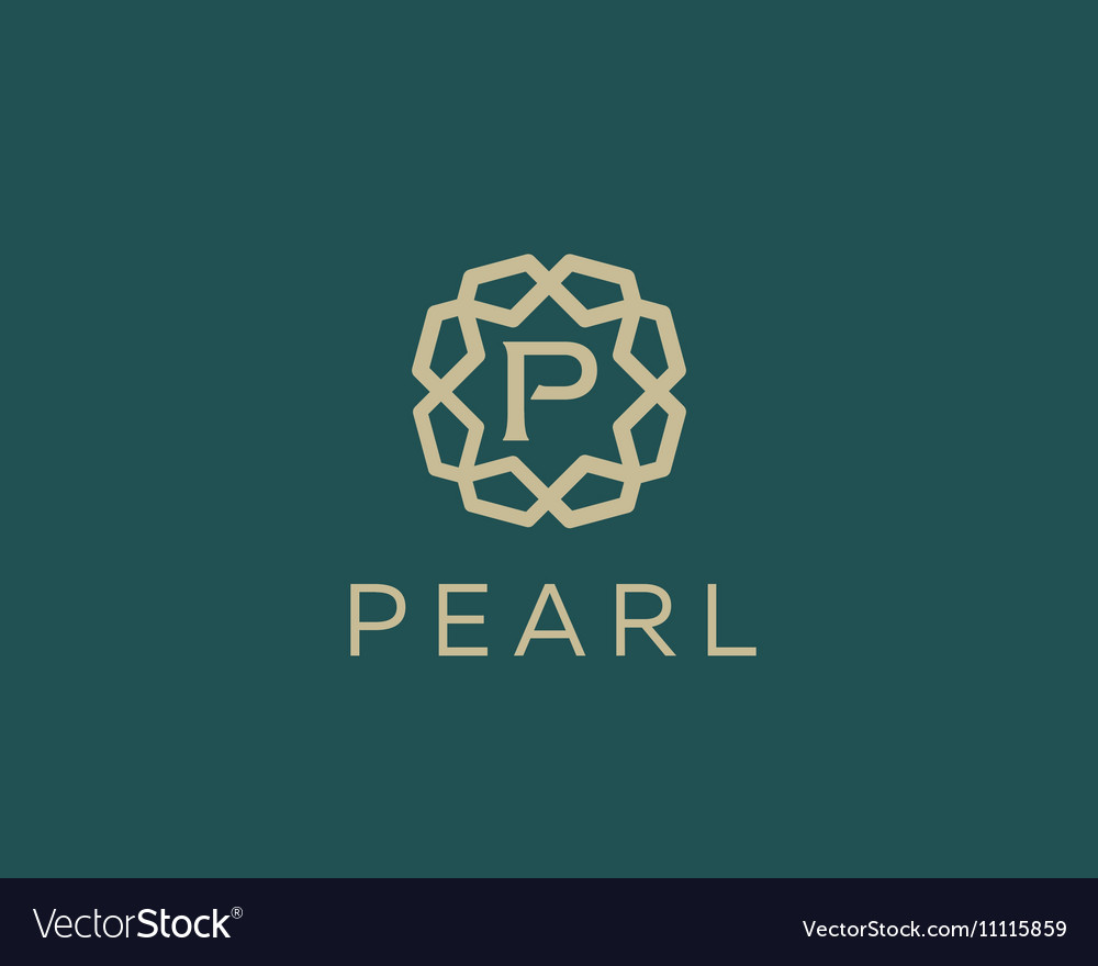 Premium letter P logo icon design Luxury